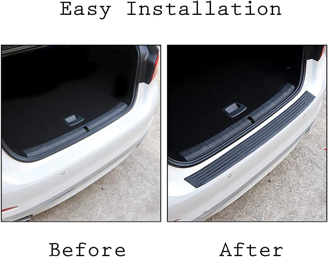 UTSAUTO Rear Bumper Protector Guard Trunk Edge Scratch Protector Cover Mat Door Entry Guards Accessory Trim Cover for SUV//Cars 40.9Inch