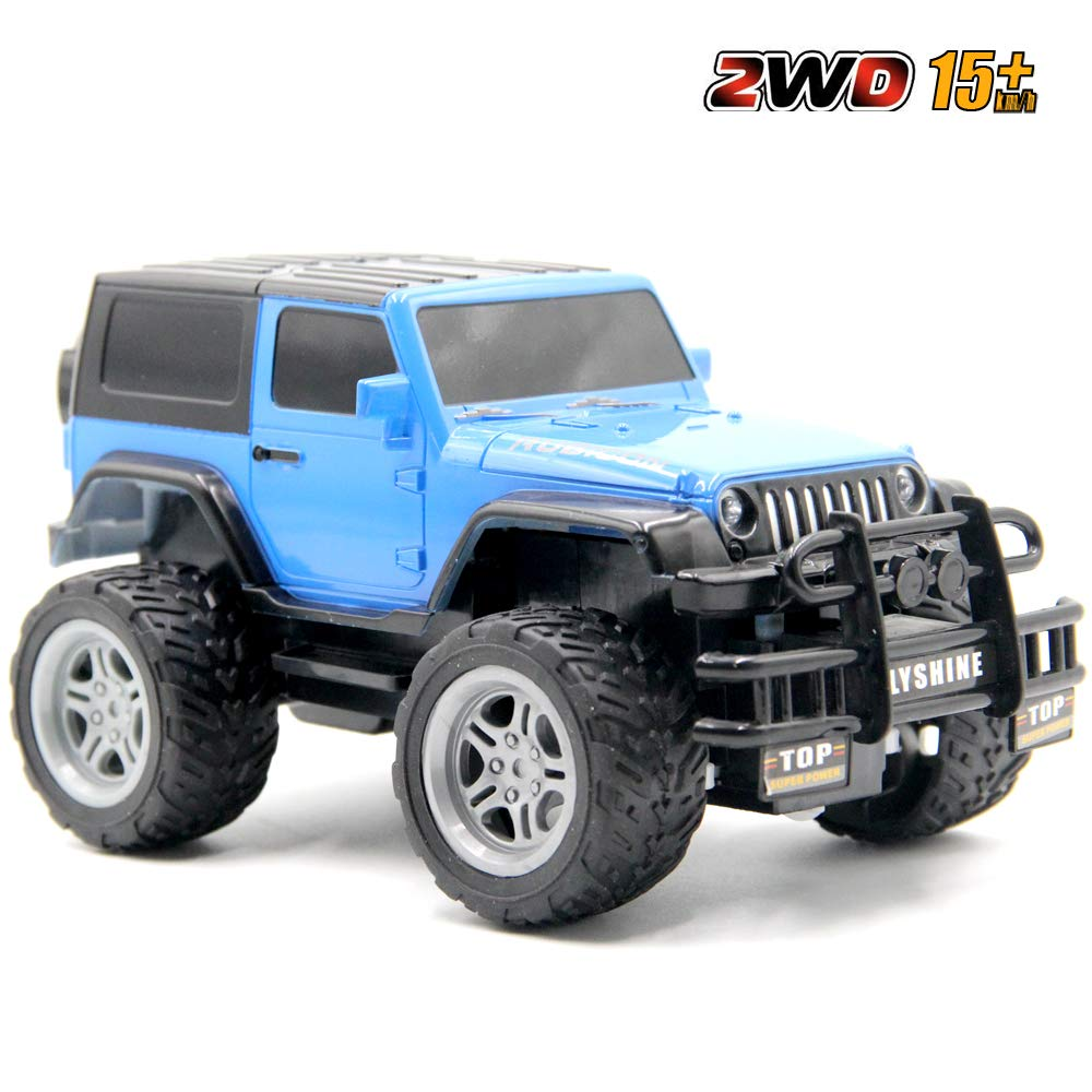 GMAXT Rc Cars,6061 Remote Control Car,1//18 Scale 15km//h,2.4Ghz 2WD Land Off-Road,with Car Light and 2 Rechargeable Batteries,Give The Child Best The Gift
