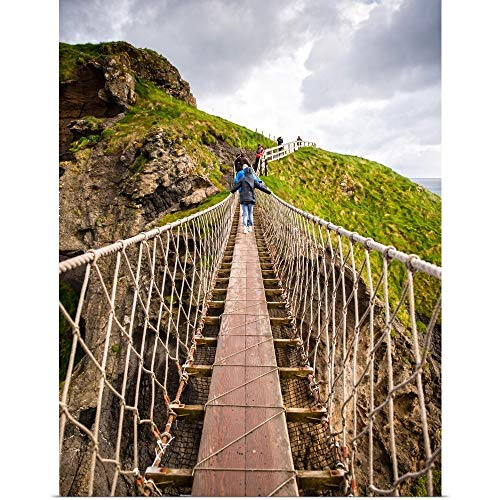 GREATBIGCANVAS Poster Print Carrick-a-Rede Rope Bridge, County Antrim, Northern Ireland by Circle Capture 30