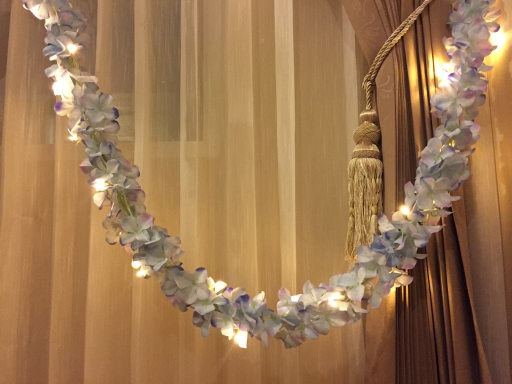 1.5 Meter 20 LED Flower Garland Battery Operate Copper LED Fairy String Lights For Wedding Decoration Party Event Bed room