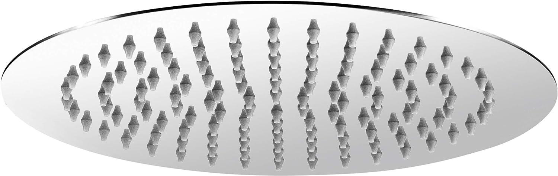 Edelstahl rostfrei // Duschkopf // Regendusche // Brausekopf // TECBW3405 1 Strahlart Mit Kugelgelenk /& Anti-Kalk-D/üsen Extra schlankes Design Cornat Kopfbrause Slim Neo 250 mm Kopfdurchmesser