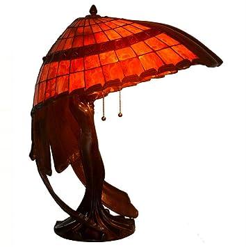 Yjmgrowing Lámparas de Mesa de Estilo Tiffany de 20 Pulgadas ...