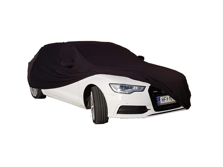 LEDmich Super-Soft Indoor Car Cover Auto Schutz Hü lle fü r Audi A6 S6 RS6 Avant Abdeckung Stoff schwarz inkl. Spiegeltaschen Abdeckplane