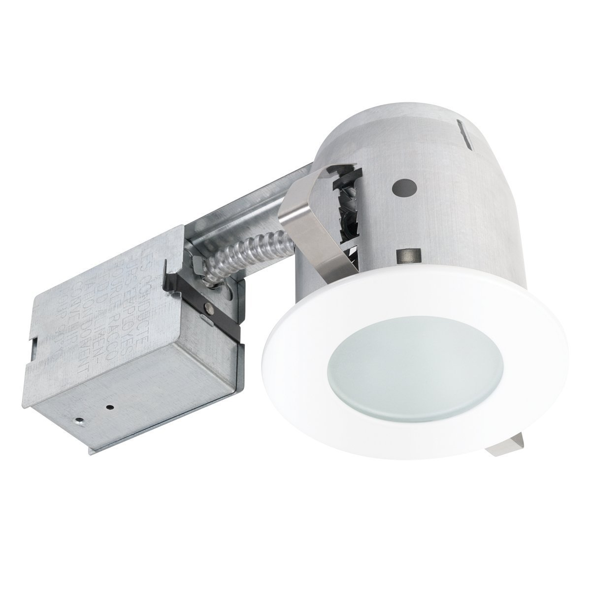 Amazon 4 bathroom shower dimmable downlight recessed lighting amazon 4 bathroom shower dimmable downlight recessed lighting kit round tempered frosted glass easy install push n click clips globe electric aloadofball Image collections