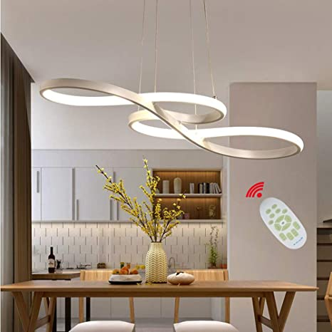 Led Modern Pendant Light With Remote