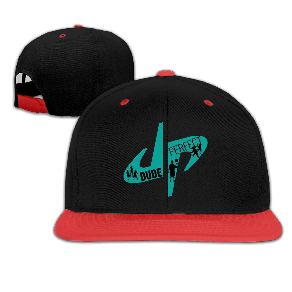 YouTube DP Dude Perfect Logo Adjustable Kids Red Baseball Caps Hip Hop Hats MBZYDAD