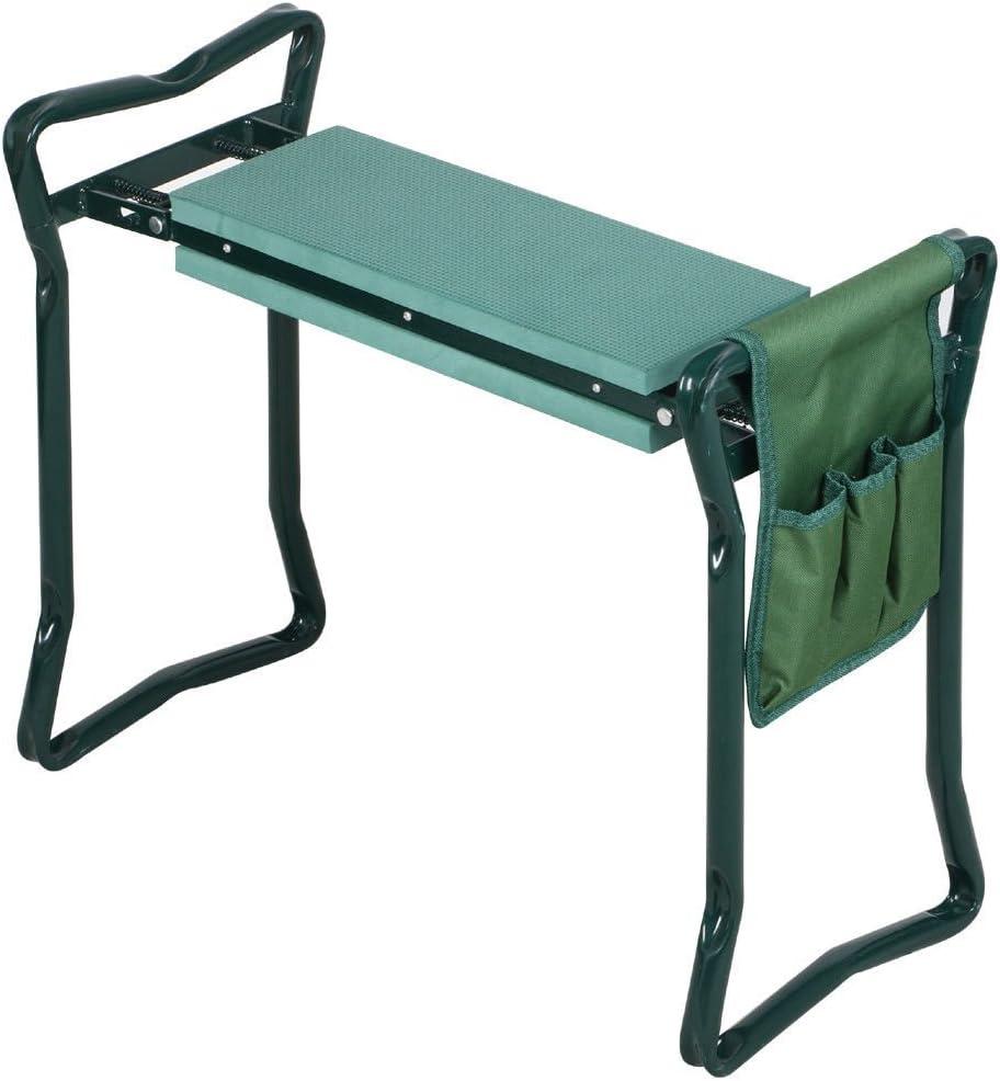 Folding Garden Kneeler Gardener Kneeling Pad & Cushion Seat Sturdy Knee Pad Seat