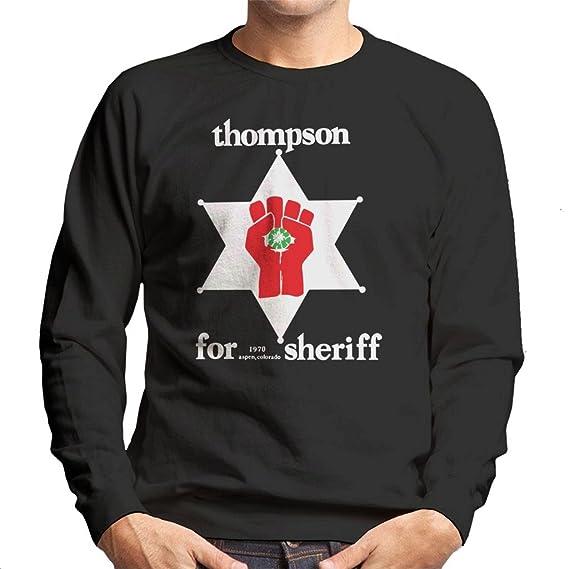 Cloud City 7 Hunter S Thompson For Sheriff Mens Sweatshirt Amazon