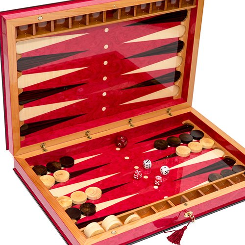 Bello Games Collezioni - Lorenzo Luxury Briarwood Backgammon Set From Italy