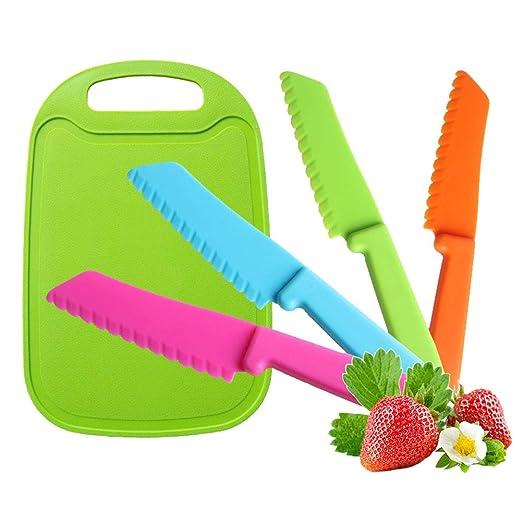 Jatidne - 4 cuchillos de seguridad para niños, cuchillo de ...