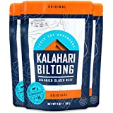 Kalahari Biltong | Air-Dried Thinly Sliced Aged Beef | Zero Sugar | Gluten-Free & non-GMO | Better than Jerky | Original | 2oz (Pack of 3)