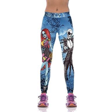 0131fd0e7db2eb Halloween Leggings Women Nightmare Before Christmas Pants Fitness Sport Gym  Yoga (S)