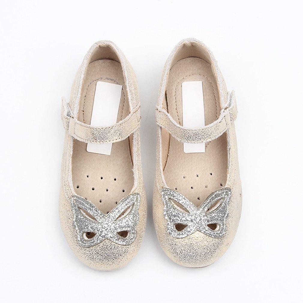 CYBLING Girls Glitter Butterfly Ballet Flat Dress Shoes Princess Shoes Toddler//Little Kid//Little Girls