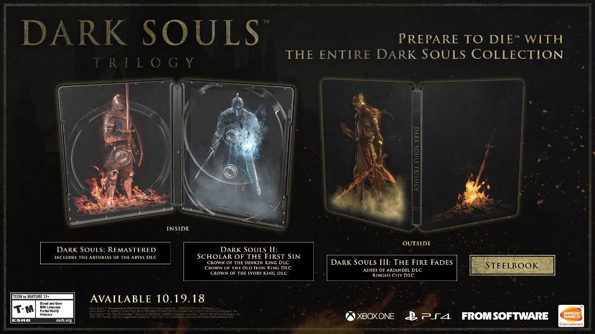 Dark Souls Trilogy for Xbox One [USA]: Amazon.es: Bandai Namco ...