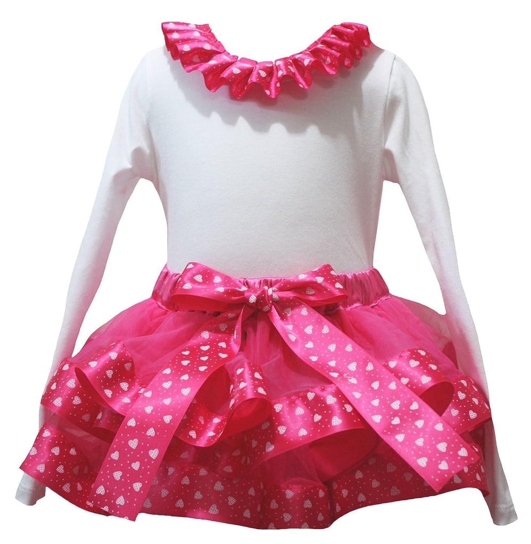 Petitebella Love Leopard Heart White L//s Shirt Red Snowflake Petal Skirt Nb-8y