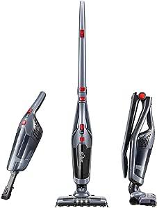 Kealive Aspirador Escoba 2 en 1, Plegable, batería de Litio y Cepillo LED para, Limpiador Vertical de Mano para Suelos, Escaleras, Ligero, Alfombras: Amazon.es: Hogar