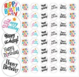 "Happy Birthday Envelope Seals - 1.2"" Happy Birthday Stickers - 144 Stickers"