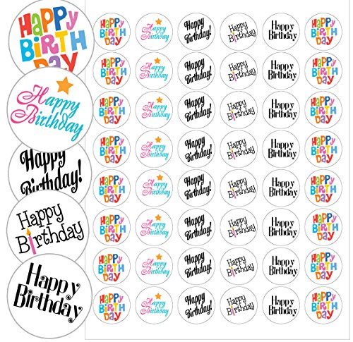 Happy Birthday Envelope Seals - 1.2