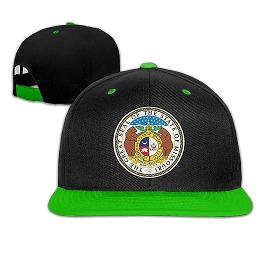 88f8faaba53f9 Amazon.com  Baseball Caps Missouri Emblem Cool Hip Hop Hats  Clothing