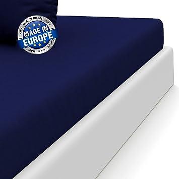⭐Drap Housse Microfibre (100% Polyester), 140 x 190/200 cm, Bleu