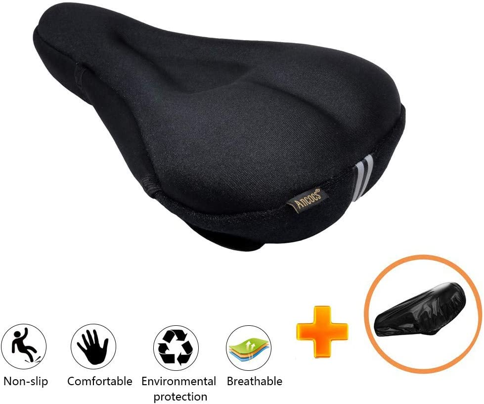 Bicycle Seat Post Saddle Gel Cover Accessories Chair Support Soft Protective Kit