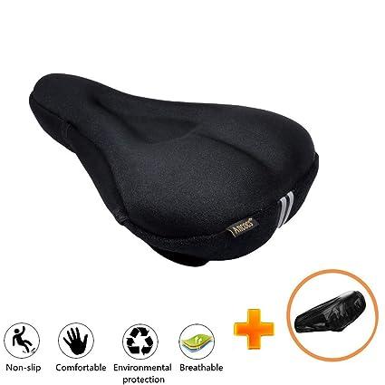 Amazon.com: Ancocs - Funda para asiento de bicicleta, suave ...
