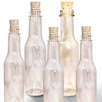 amazon com 20 plastic bottles corks for message in a bottle