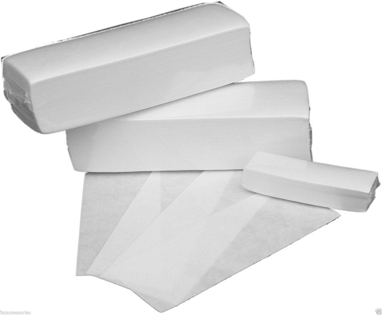 100pcs blanc enlèvement non tissés chiffon cheveux Remove papier ciré rouleaux haute qualité cheveux enlèvement épilateur cire bande papier roulis Romote