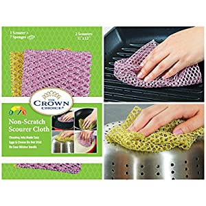 NO ODOR Dish Cloth for All Purpose Dish Washing | No Mildew Smell from Sponges, Scrubbers, Wash Cloths, Rags, Brush | Outlast ANY Kitchen Scrubbing Sponge or Cotton Dishcloth 61Nk3dCPI1L