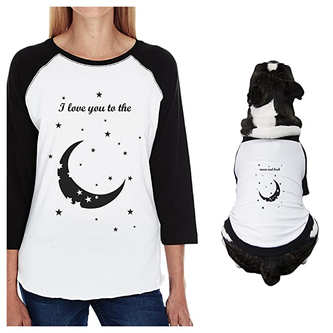 Amazon.com: 365 impresión Moon and Back pequeño perro y mamá ...