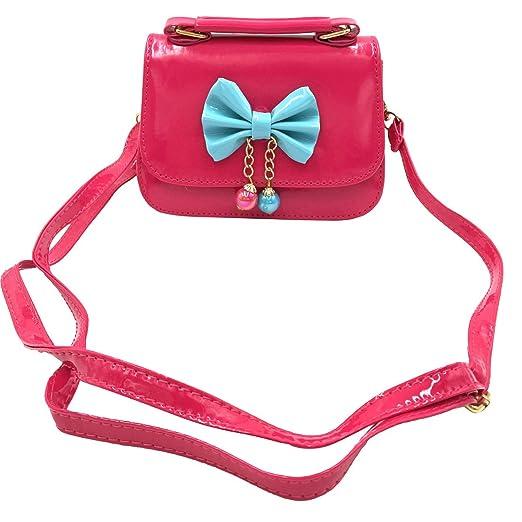 b5185ea817 Little Girl Kids Cute Mini Handbag Purse Necklace Bracelet for Christmas  Birthday Party Gift (Red