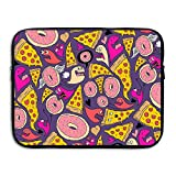 Pizza Donut Monster Laptop Sleeve Egiant Waterproof Protective Fabric Notebook Bag Case 15 Inch