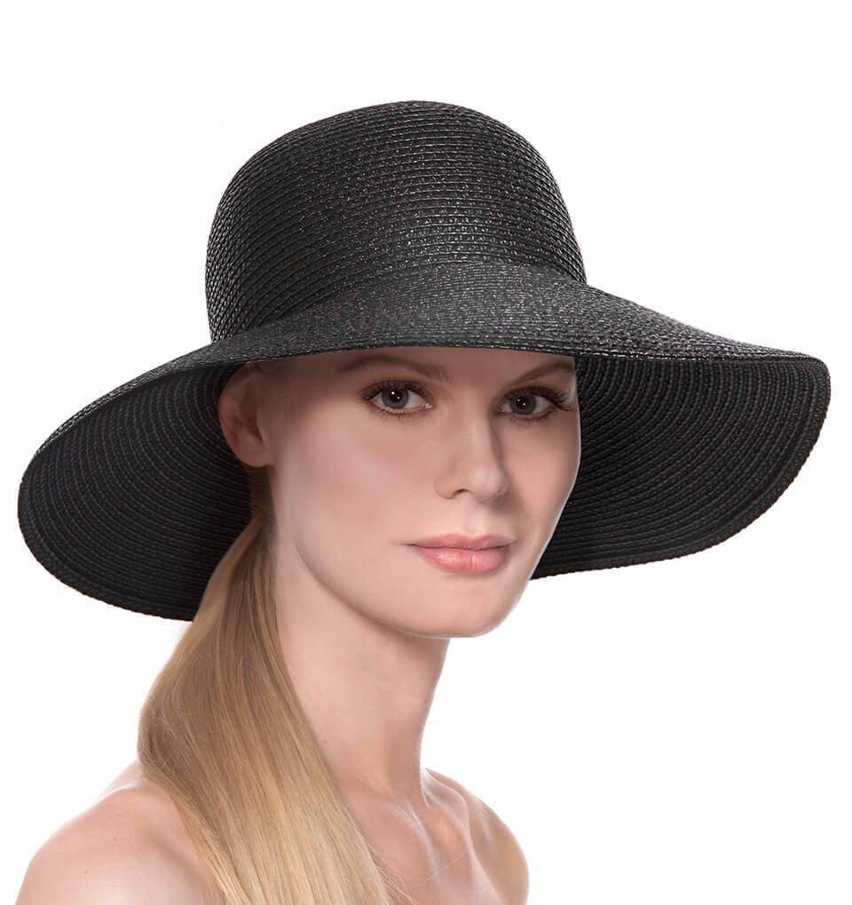 Eric Javits Luxury Fashion Designer Women's Headwear Hat - Hampton - Black by Eric Javits