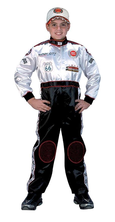 amazoncom aeromax jr champion racing suit black and white child 6 8 clothing