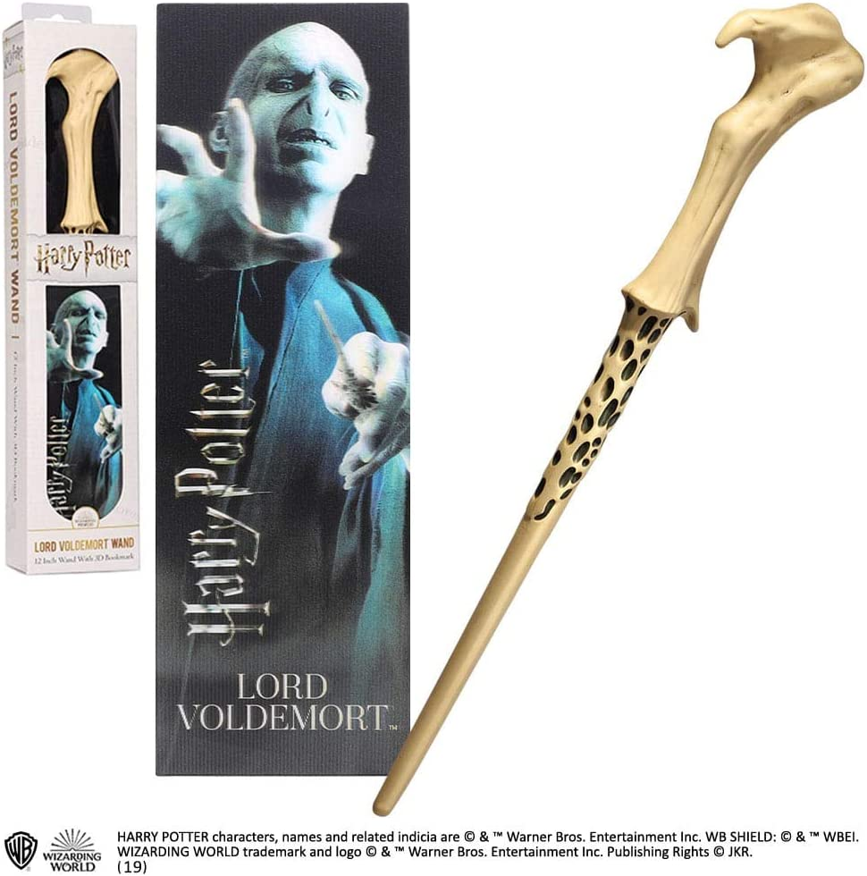 The Noble Collection Lord VoldemortPVC Wand and Prismatic Bookmark