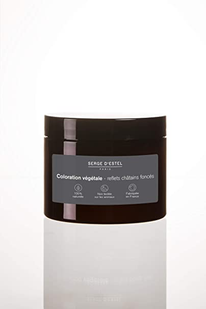 Henna castaña oscura 200g de colorante vegetal con Henna castaña oscura Hecho en Francia 100% natural, no probado en animales.