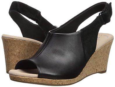 1cf3199729c Amazon.com  CLARKS Women s Lafley Jess Wedge Sandal  Shoes