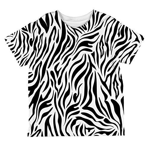 (Zebra Stripes Pattern All Over Toddler T Shirt Multi 4T)