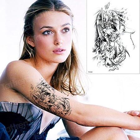 Handaxian 3pcs Tatuaje ángel Beat Diablo diseño Brazalete Hombres ...