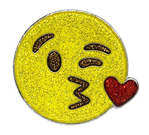 (Navika Emoji Mwah Glitzy Ball Marker with Magnetic Hat Clip)