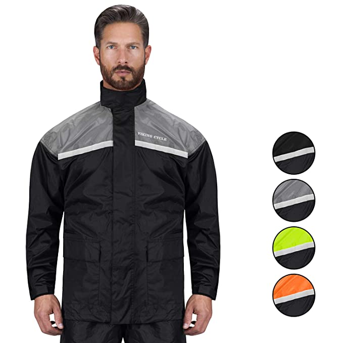 top-rated official moderate cost new style of 2019 Viking Cycle Motorcycle Rain Gear - Two Piece Motorcycle Rain Suit