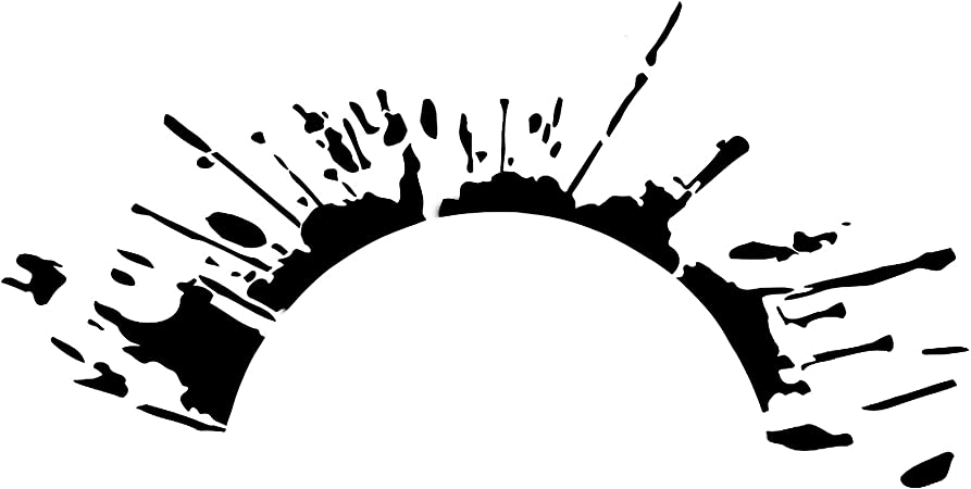 Finest Folia Set Blutspritzer Für Radlauf Auto Radkasten Blutige Aufkleber Blut Spritzer Autoaufkleber Blutspuren Folie Horror Fun Sticker Kx025 Kx066 Schwarz 2er Set Blutspritzer Auto