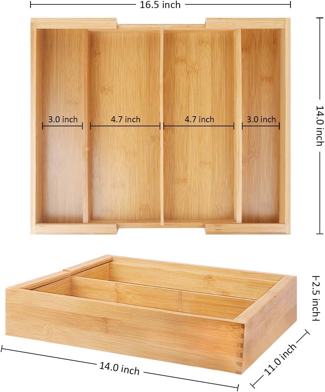 Amazon.com: bamburoba bambú separadores de cajones ampliable ...