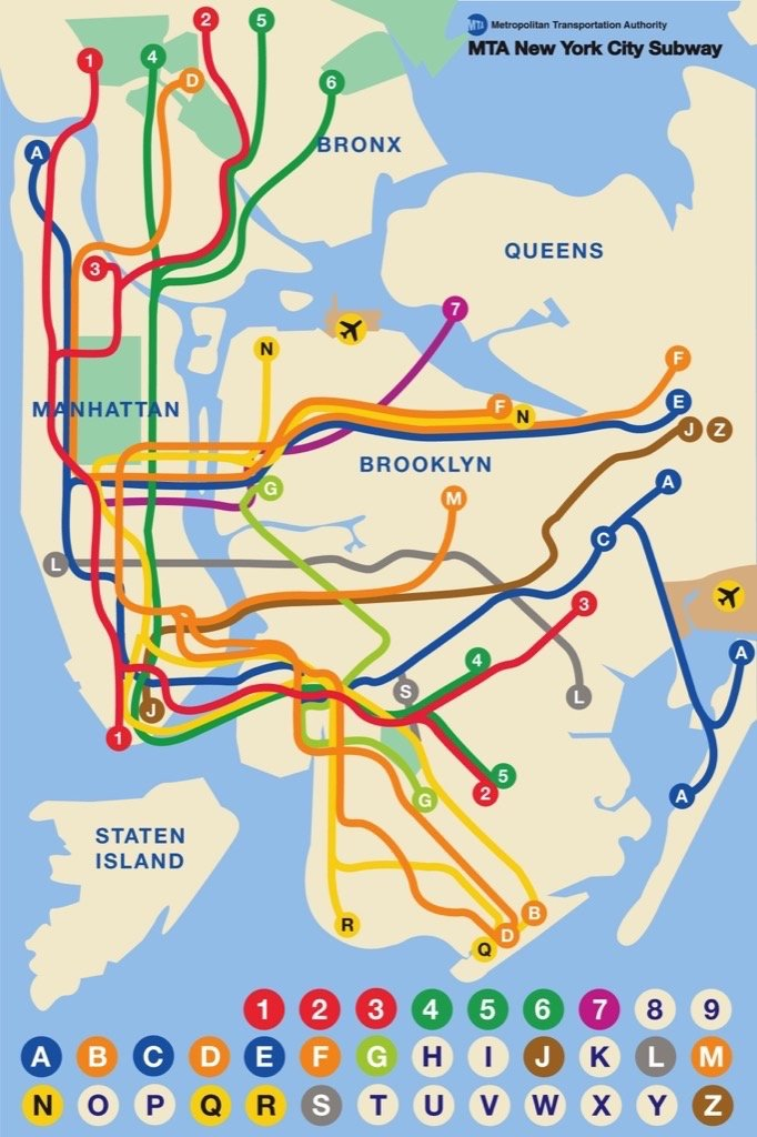 New York City Subway Map Brooklyn.New York Puzzle Company New York City Transit Mta Subway Kids 36 Piece Jigsaw Puzzle