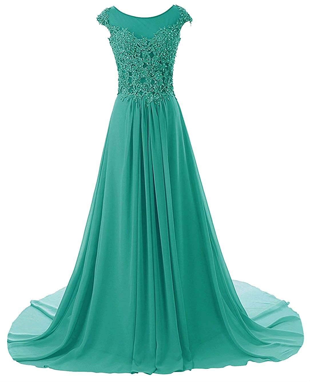 Dark Turquoise Wanshaqin Women's Aline Lace Appliques Evening Party Cocktail Dresses Bridesmaid Gowns Prom Formal Dresses for Events Party
