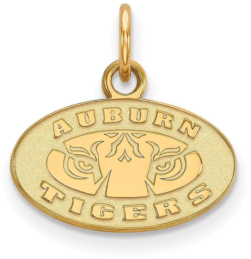 Gold-Plated Sterling Silver Auburn University X-Small Pendant by LogoArt GP043AU