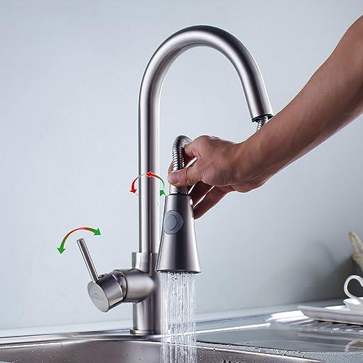 18 opinioni per Auralum 360° Miscelatore cucina miscelatore rubinetto flessibile estraibile del