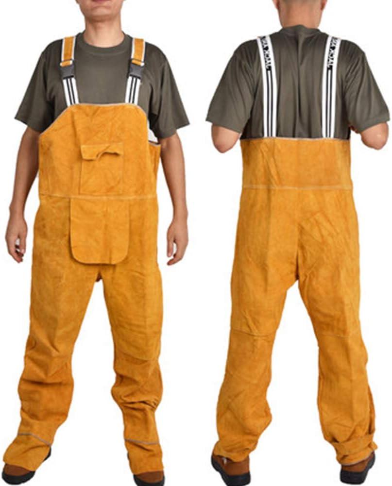 ,A,L Ropa De Protecci/ón Ign/ífuga Pantalones De Soldadura De Cuero Resistente A Salpicaduras para Soldar L - 3XL Forjar - Trajes De Soldadura El/éctricos