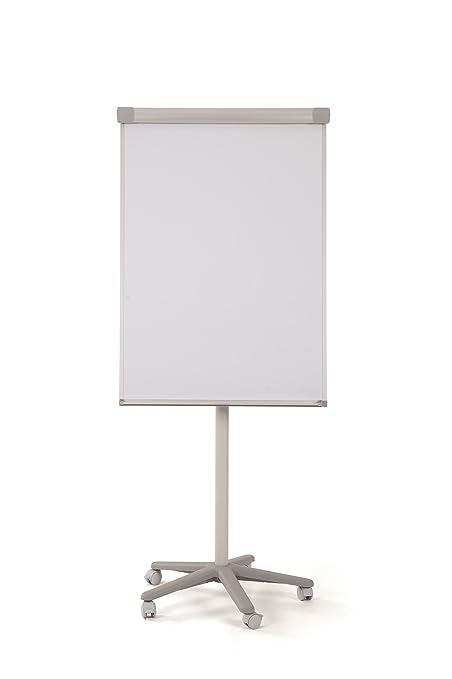 Bi-Office Smart - Pizarra magnética con caballete móvil y rotafolios con ruedas, 70 x 100 cm