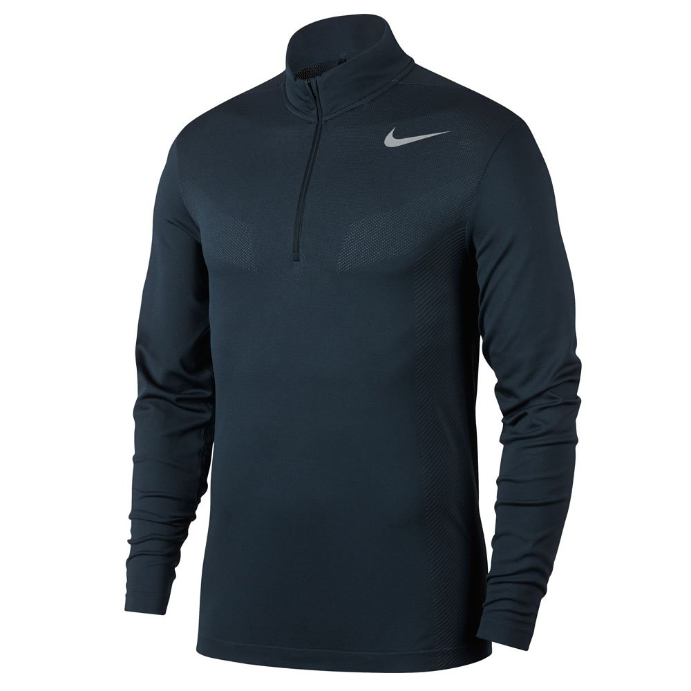 Nike Dri Fit Knit 1/2 Zip Golf Pullover 2017 Armory Navy/Armory Blue/Flat Silver Large by NIKE
